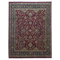 FineRugCollection Handmade Fine Tabriz Red Wool Oriental Rug - 9' x 12'