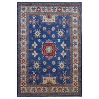 Fine Rug Collection Handmade Fine Kazak Blue Wool Oriental Rug (8'7 x 12'1)
