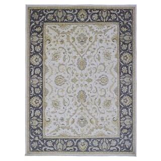 Fine Rug Collection Handmade Fine Peshawar Beige Wool Oriental Rug (9' x 12')