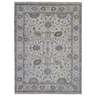 Fine Rug Collection Handmade Oushak Beige Wool Oriental Rug (9' x 12')