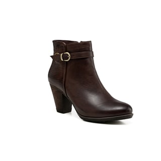Vicenzo Leather Sophia Low Heel Ankle Women Leather Boots
