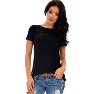 Lyss Loo Women's Cuffed Sleeve Top