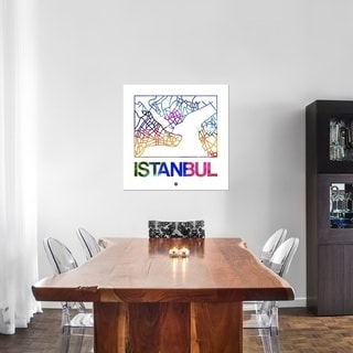 Naxart Studio 'Istanbul Watercolor Street Map' Canvas Stretched Wall Art