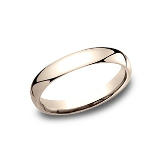 14k Rose Gold 3-millimeter Comfort-fit Women's Wedding Band
