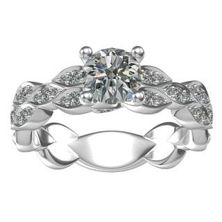 Sterling-silver Cubic Zirconia Classic Engagement Ring