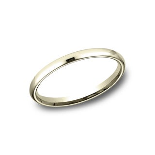 Women's 14k Yellow Gold Comfort-fit Traditional Wedding Band