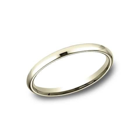 Women's 2.5mm 14k Yellow Gold Comfort-fit Traditional Wedding Band - 14k Yellow Gold - 14k Yellow Gold