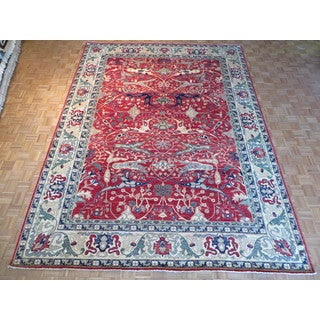 Hand Knotted Red Fine Peshawar with Wool Oriental Rug (10 x 13'7)