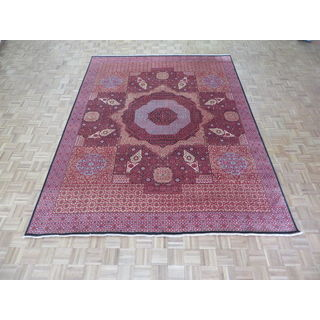 Hand Knotted Black Mamluk with Wool Oriental Rug (8'11 x 11'9)
