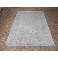 Hand Knotted Sky Blue Peshawar with Wool Oriental Rug - 8'9 x 11'6