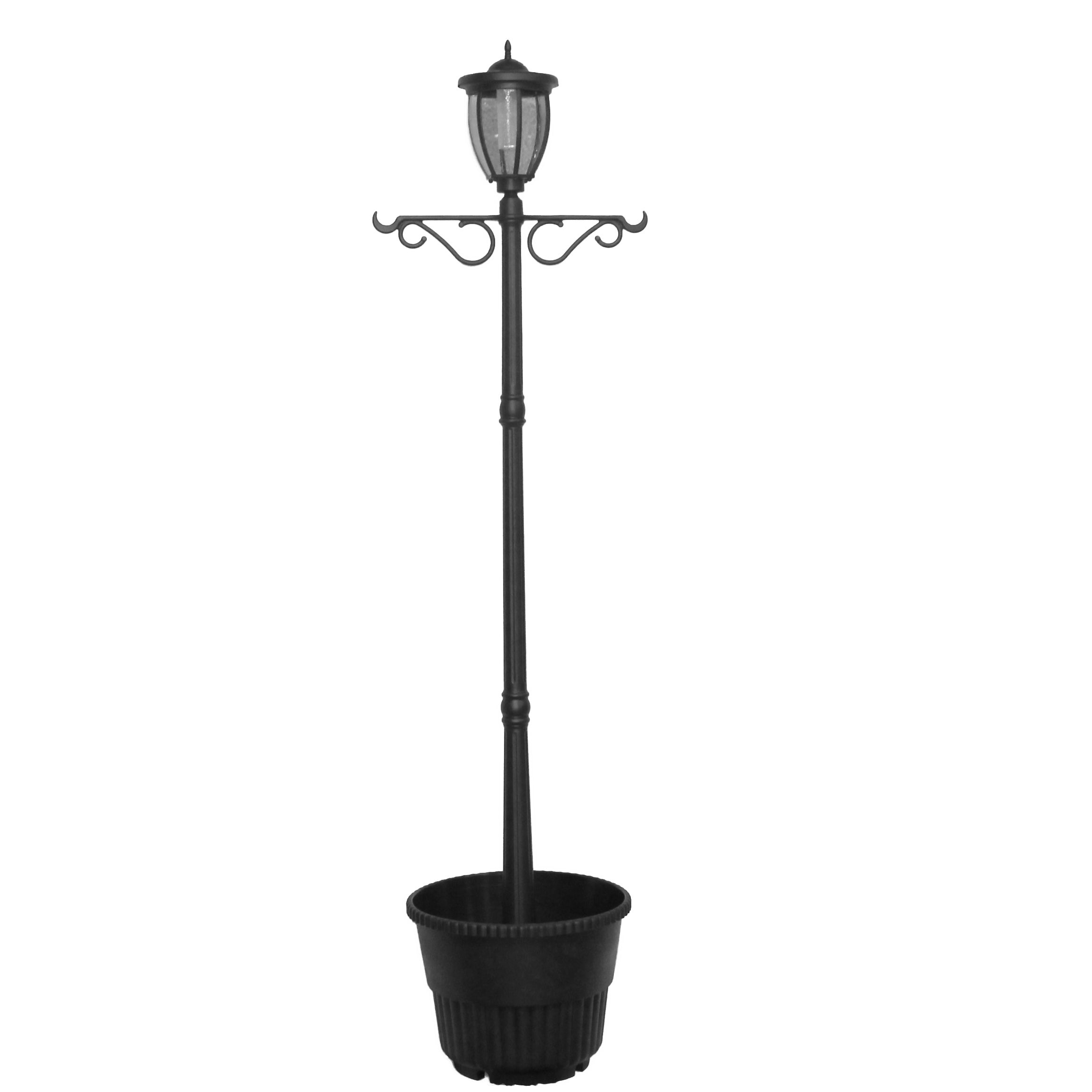 Kenwick Solar Lamp Post And Planter