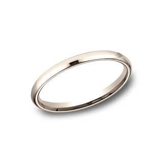 Women's 14k Rose Gold Comfort-fit Traditional Wedding Band