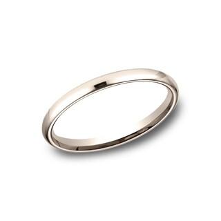 Women's 2.5mm 14k Rose Gold Comfort-fit Traditional Wedding Band - 14K Rose Gold