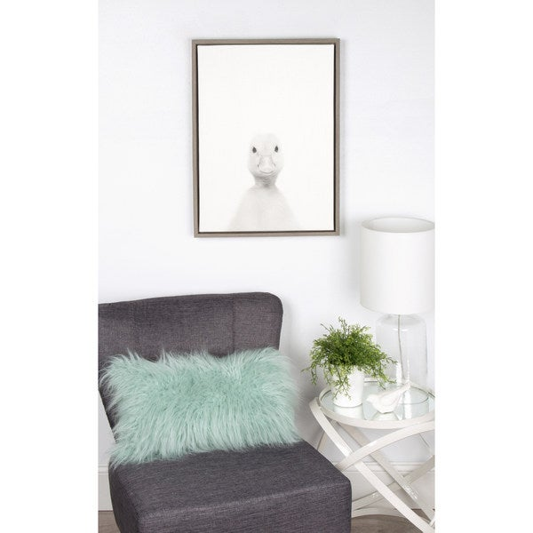 Shop Simon Te Tai \'Sylvie Duck\' Framed Canvas Wall Art - Free ...