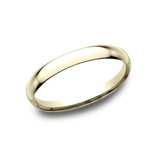Men's 2MM 14k Yellow Gold Comfort-fit Traditional Wedding Band