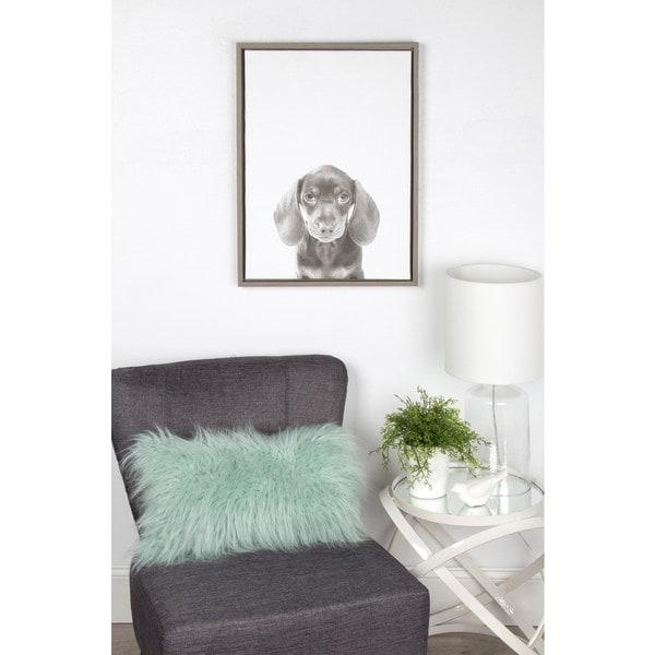 Framed Canvas Wall Art designovation simon te 'alpaca portrait' black and white framed