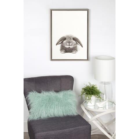 DesignOvation Simon Te Tai's 'Sylvie Rabbit' Black/White Framed Canvas Wall Art