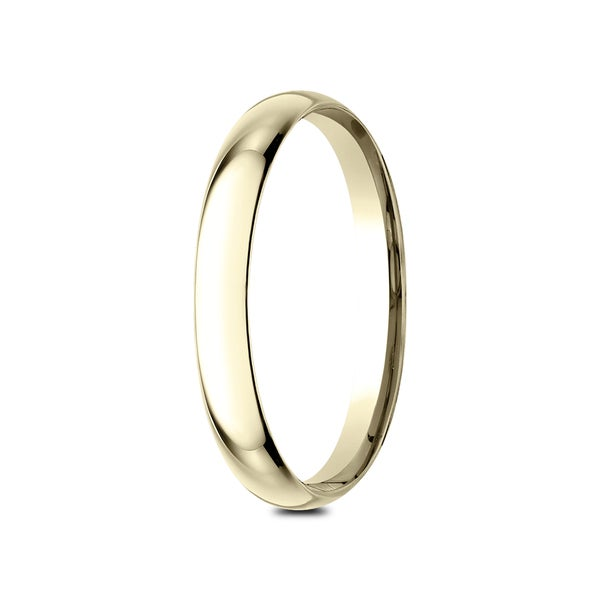 14K Yellow Gold 2mm Lightweight Comfort Fit Band Ring