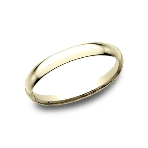 2MM 14k Yellow Gold Comfort-fit Traditional Wedding Band - 14k Yellow Gold - 14k Yellow Gold