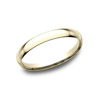 Ladies 2MM 14k Yellow Gold Comfort-fit Traditional Wedding Band