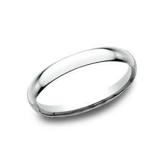 Men's 2mm 14k White Gold Comfort-fit Traditional Wedding Band