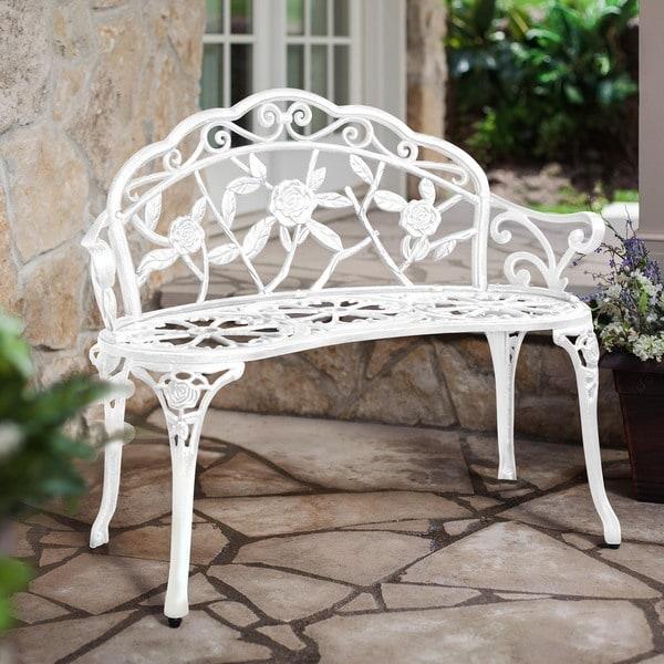 Patio Premier Rose Garden Park Bench, White