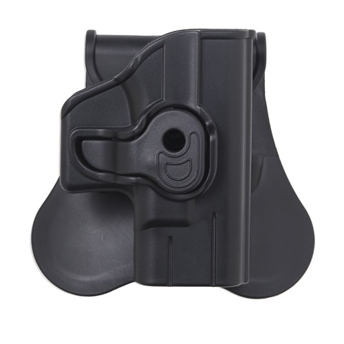 Bulldog Cases Polymer Holster with Paddle/Belt Loop Glock 26,27, and 33 (Gen 1,2,3,4), Black