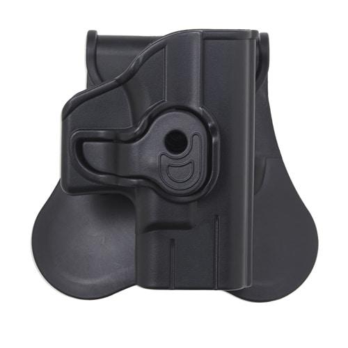 Bulldog Cases Polymer Holster with Paddle/Belt Loop Glock 42, Black