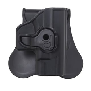 Bulldog Cases Polymer Holster with Paddle/Belt Loop Beretta and Taurus 92, Black