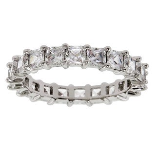 Eternally Haute 6-carat Cubic Zirconia Princess-cut Eternity Ring