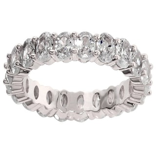 Eternally Haute 7.5-carat TW Oval Cut Eternity Ring - Silver
