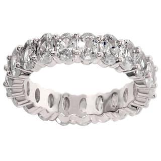 Eternally Haute 7.5-carat TW Oval Cut Eternity Ring - Silver https://ak1.ostkcdn.com/images/products/14219216/P20812177.jpg?impolicy=medium
