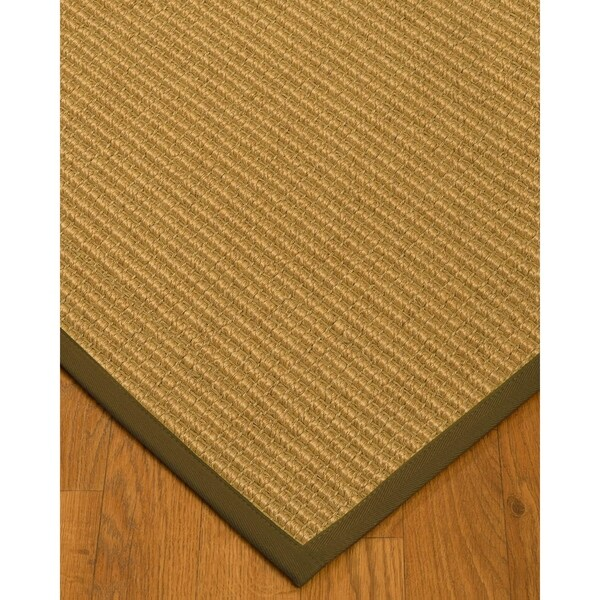 Handcrafted Lucca Natural Sisal Rug - Malt Binding, 2' x 3'