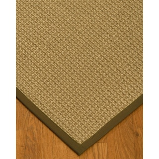 Handcrafted Logan Natural Sisal Rug - Malt Binding (4' x 6') with Bonus Rug Pad
