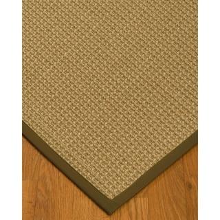 Handcrafted Logan Natural Sisal Rug - Malt Binding (9' x 12') with Bonus Rug Pad
