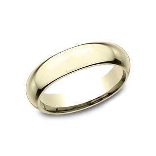 Women's 5mm 18K Yellow Gold High Domed Comfort-Fit Wedding Band - 18K Yellow Gold