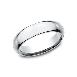 18k White Gold High-domed Comfort-fit Wedding Band