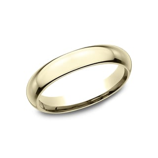 Men's 18K Yellow Gold 4mm High-Domed Comfort-Fit Wedding Band