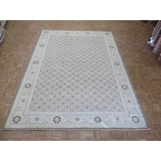 Hand Knotted Brown Peshawar with Wool Oriental Rug (10'1 x 13'8)