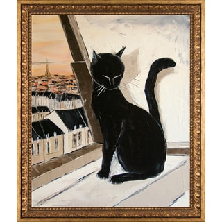 Atelier De Jiel 'Black Cat is a Paris Master' Fine Art Print on Canvas