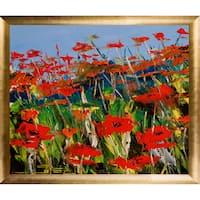 Atelier De Jiel 'Poppies' Fine Art Print on Canvas - Red