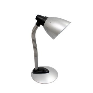 Simple Designs Silver High Power LED Desk Lamp with Flexible Hose Neck