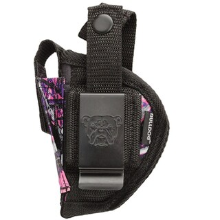 Bulldog Cases Belt Holster, Ambidextrous Muddy Girl Camo, Ambidextrous, Mini Autos