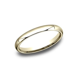 Ladies' 18k 3mm Yellow Gold High-domed Comfort-fit Wedding Band