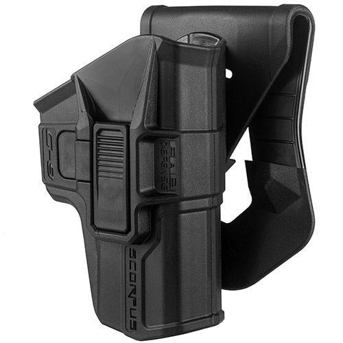 Mako Group Scorpus Paddle/Belt Holster Glock 9/40, Swivel. Level II, Black, Right Hand