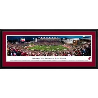Blakeway Panoramas 'Washington State Football - 50 Yd Line' Framed Print