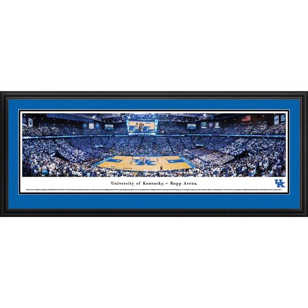 Blakeway Panoramas Kentucky Wildcats Basketball Framed Print