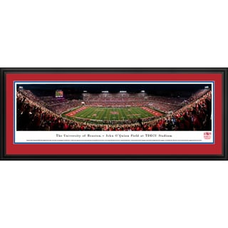 Houston Cougars Football - 50 Yd Line - Blakeway Panoramas Framed Print