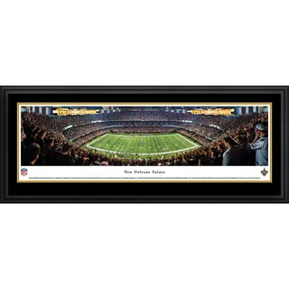 Blakeway Panoramas 'New Orleans Saints - 50 Yard Line' Framed NFL Print
