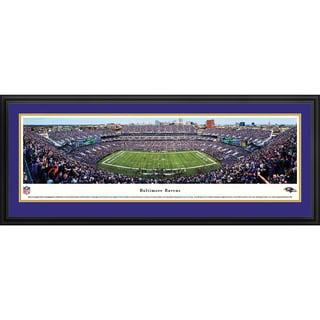 Baltimore Ravens - 50 Yard Line - Blakeway Panoramas Framed NFL Print